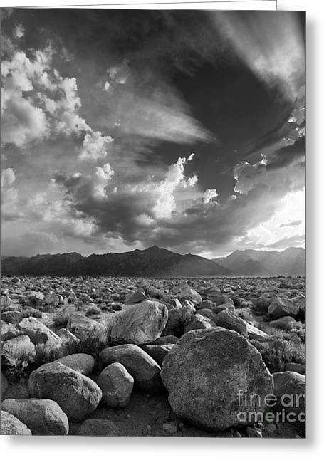 Pm Greeting Cards - Manzanar Boulders 1 Greeting Card by Don Hall