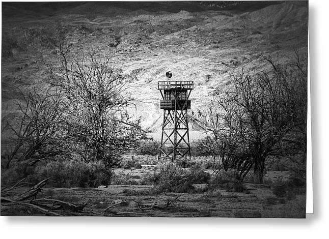 Lookout Tower Greeting Cards - Manzanar Lookout Greeting Card by Kurt Golgart