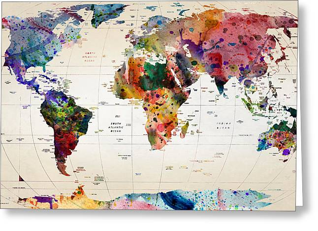 MAP Greeting Card by Mark Ashkenazi