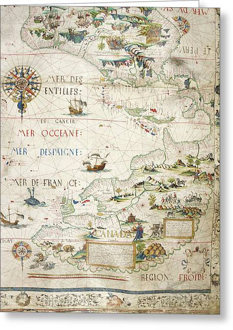 Map Of Canada Greeting Card by British Library