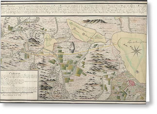 Map Of Cuautitlan River Greeting Card by British Library