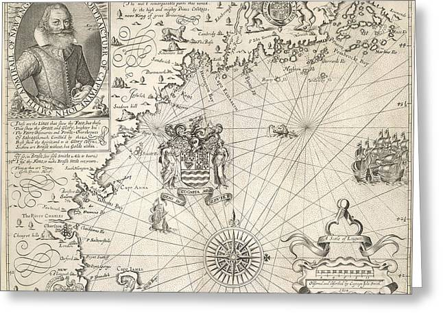 Map Of New England Greeting Card by British Library