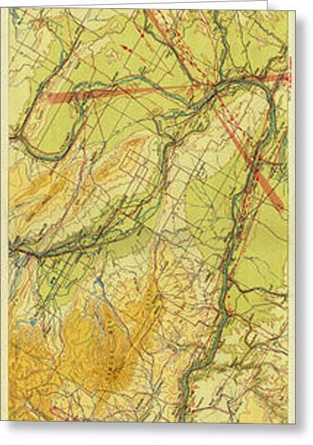 Spokane Greeting Cards - Map of Portland Spokane 1931 Greeting Card by Andrew Fare