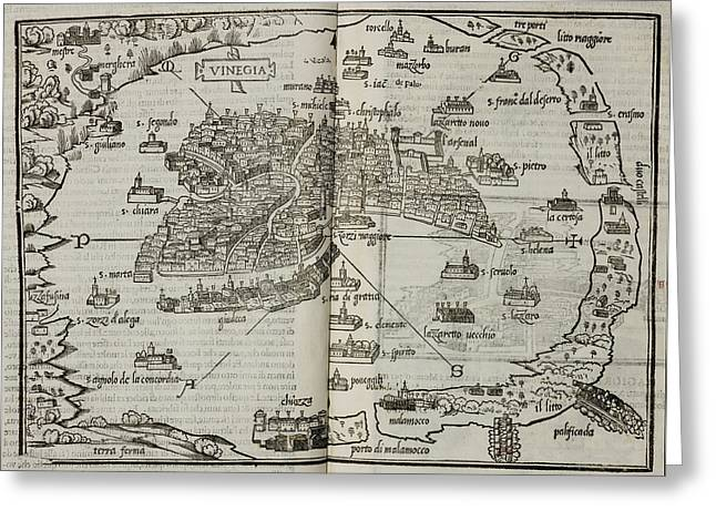 Map Of The City State Of Venice Greeting Card by British Library