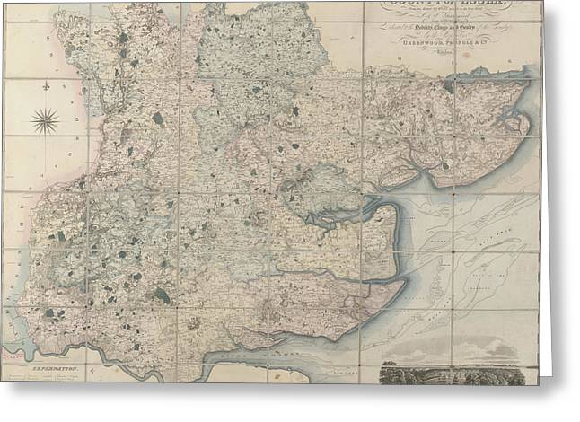 Map Of The County Of Essex Greeting Card by British Library