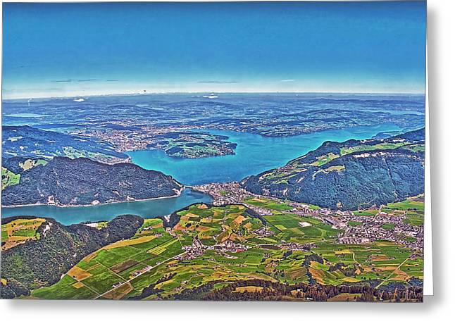 Fineartamerica Greeting Cards - Map View Greeting Card by Hanny Heim