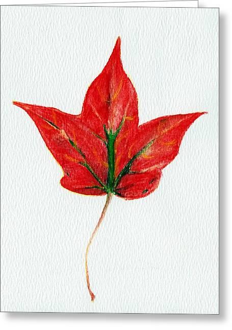 Maple Leaf Greeting Card by Anastasiya Malakhova