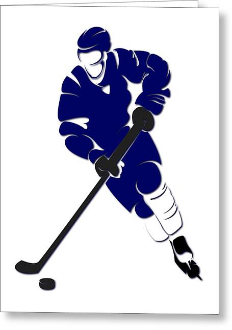 Maple Leafs Captain Greeting Cards - Maple Leafs Shadow Player Greeting Card by Joe Hamilton