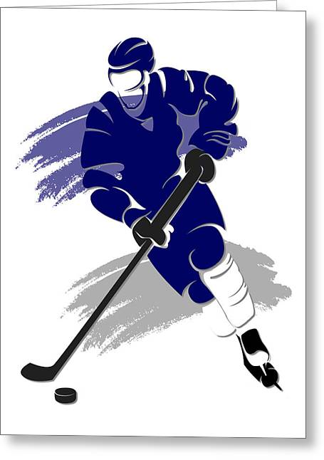 Maple Leafs Captain Greeting Cards - Maple Leafs Shadow Player2 Greeting Card by Joe Hamilton