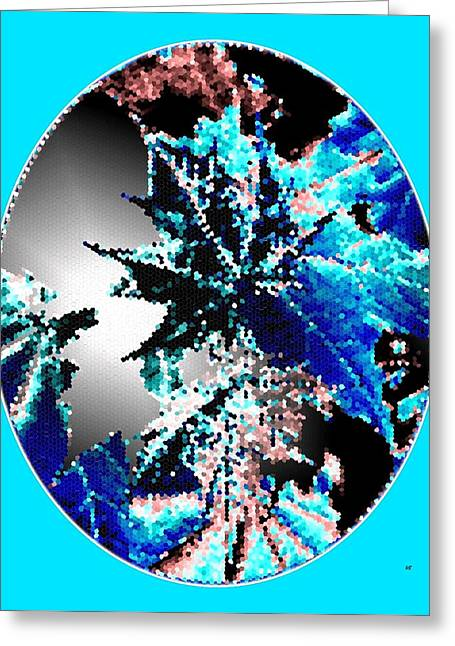 Unique Art Greeting Cards - Maple Leaves Motif Oval Greeting Card by Will Borden