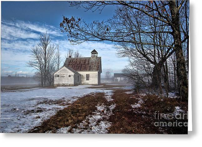 J. Harrison Greeting Cards - Maple Ridge Schoolhouse Greeting Card by Thomas J Martin