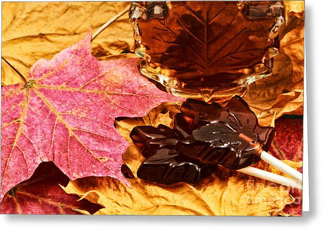 Maple Syrup Greeting Cards - Maple Sugar Memory Greeting Card by Charline Xia