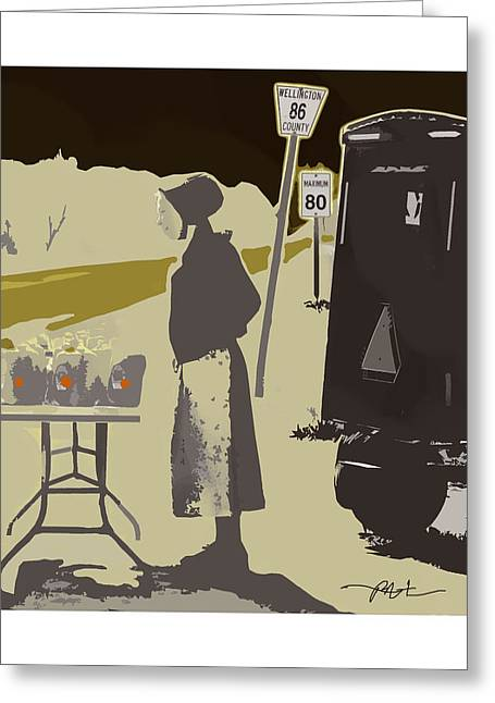 Amish Farms Mixed Media Greeting Cards - Maple Syrup For Sale Greeting Card by Bob Salo