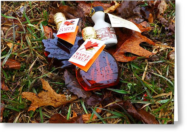 Maple Syrup Greeting Cards - Maple Syrup Greeting Card by Frank Garciarubio