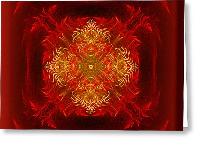 Mapping the soul - spiritual abstract art by Giada Rossi Greeting Card by Giada Rossi