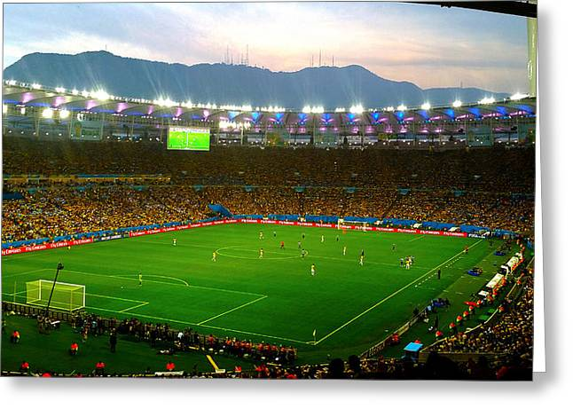 Fandom Greeting Cards - Maracana Vista Greeting Card by KayKay Kameraman