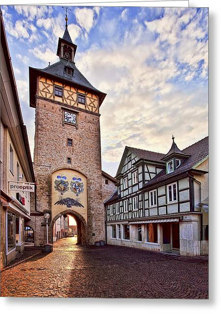 Old Western Photos Greeting Cards - Marbach Clock Tower Greeting Card by Marcia Colelli