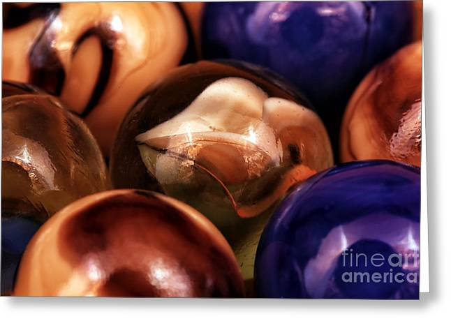 Marble Choices Greeting Card by John Rizzuto