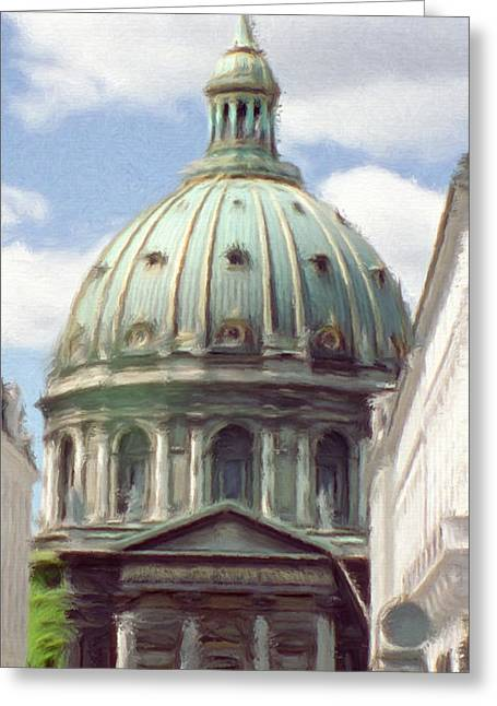Cross Greeting Cards - Marble Church Greeting Card by Jeff Kolker