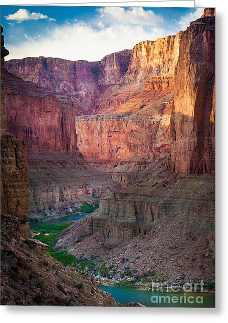 Narrow Greeting Cards - Marble Cliffs Greeting Card by Inge Johnsson