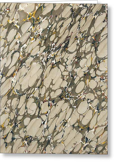 Marble Endpaper Greeting Card by English School