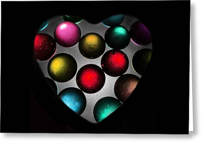 Marble Heart Greeting Card by Marianna Mills