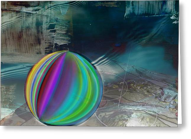 Black Ball Mixed Media Mixed Media Greeting Cards - Marble Greeting Card by Jan Steadman-Jackson