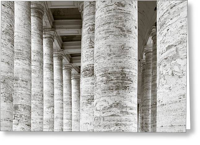 Rome Greeting Cards - Marble Roman Columns Greeting Card by Susan  Schmitz