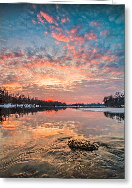 Fire Stones Greeting Cards - Marble sky II Greeting Card by Davorin Mance