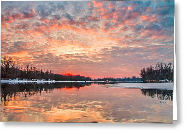 Marble sky II Greeting Card by Davorin Mance