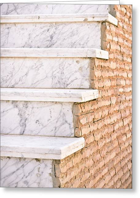 Overcome Greeting Cards - Marble steps Greeting Card by Tom Gowanlock