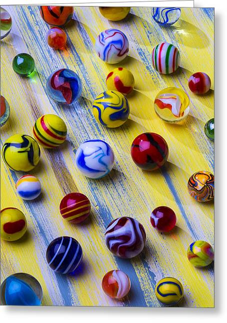 Amusements Greeting Cards - Marble Still Life Greeting Card by Garry Gay