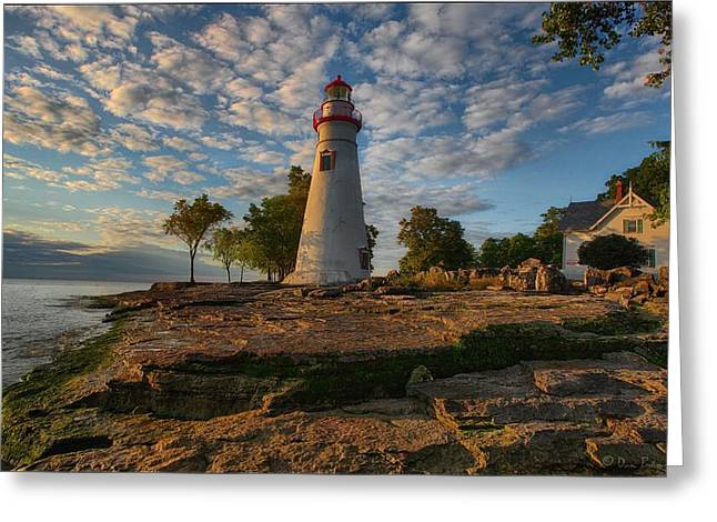 Marblehead Lighthouse Greeting Card by Daniel Behm