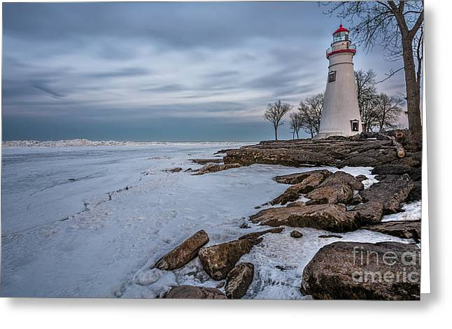 Marblehead Lighthouse  Greeting Card by James Dean