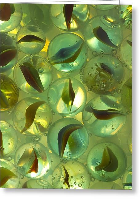 Marble Eye Greeting Cards - Marbles Cat Eyes Soda 1 C Greeting Card by John Brueske