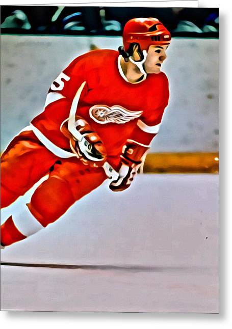 Detroit Legends Greeting Cards - Marcel Dionne Greeting Card by Florian Rodarte