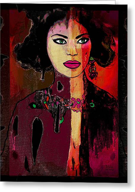 Natalie Holland Art Greeting Cards - Marcella Greeting Card by Natalie Holland