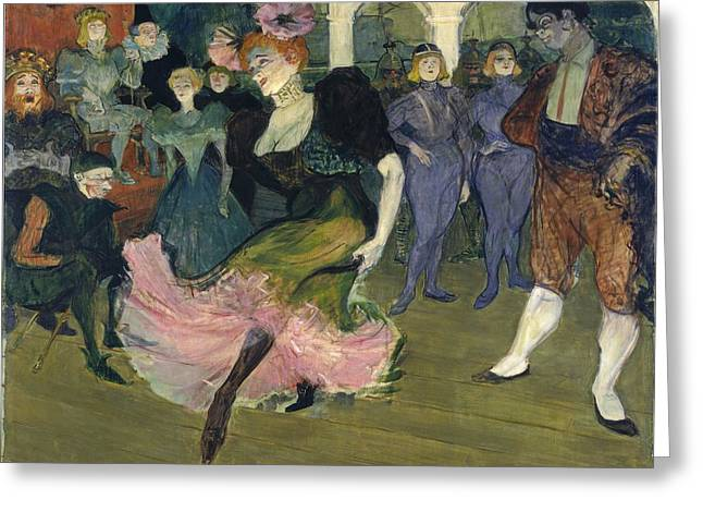 Marcelle Lender Dancing The Bolero In Chilperic Greeting Card by Henri de Toulouse-Lautrec
