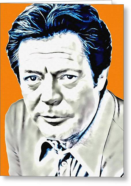 Italian Cinema Greeting Cards - Marcello Mastroianni Greeting Card by Art Cinema Gallery