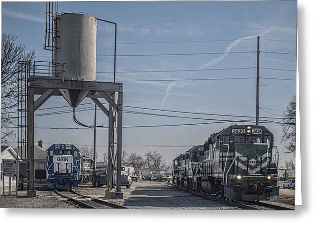 Evansville Greeting Cards - March 11. 2015 - Evansville Western Railway engine 3836 Greeting Card by Jim Pearson