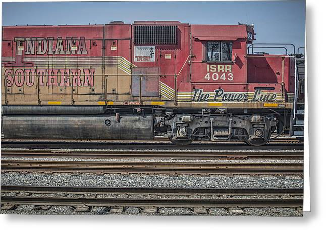 Southern Indiana Greeting Cards - March 11. 2015 - Indiana Southern Railway engine 4043 Greeting Card by Jim Pearson