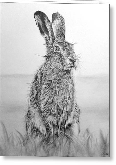 March Hare Greeting Cards - March Hare Greeting Card by Frances Vincent