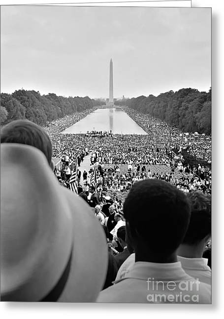 March On Washington Greeting Cards - March on Washington for Jobs and Freedom Greeting Card by Celestial Images