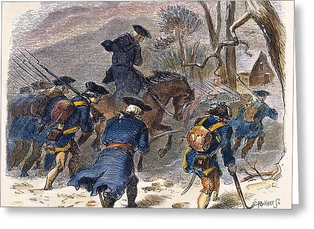 March To Valley Forge, 1777 Greeting Card by Granger