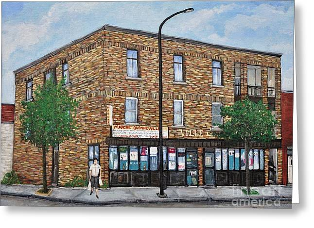 Depanneur Greeting Cards - Marche Quenneville Today Greeting Card by Reb Frost