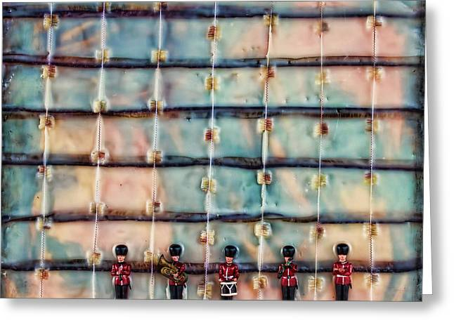 Marching Band Greeting Cards - Marching Band Encaustic Greeting Card by Bellesouth Studio