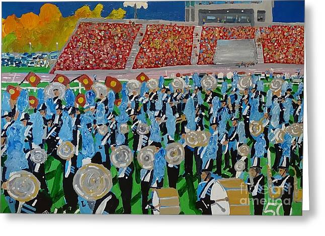 Marching Band Greeting Cards - Marching Band Greeting Card by Rodger Ellingson