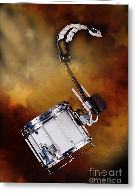 Marching Band Greeting Cards - Marching Band Snare drum Photograph in Color 3329.02 Greeting Card by M K  Miller