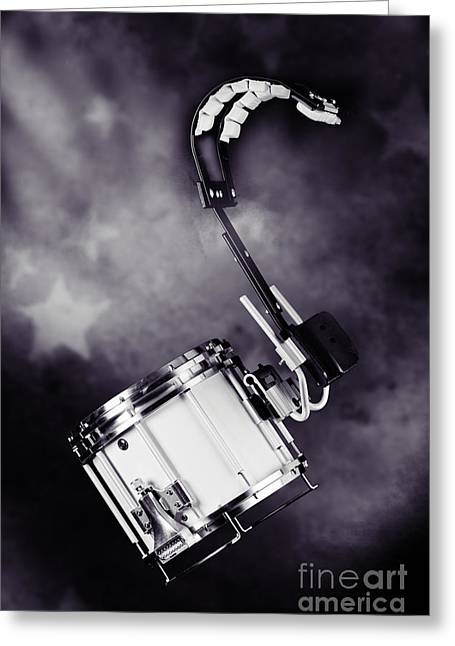Marching Band Greeting Cards - Marching Band Snare drum Photograph in Sepia 3329.01 Greeting Card by M K  Miller