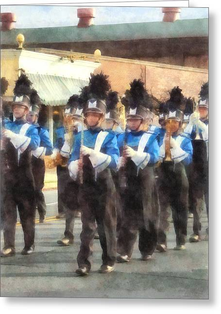 Trumpeters Greeting Cards - Marching Band Greeting Card by Susan Savad